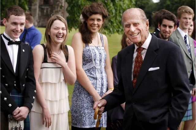 The Duke of Edinburgh attends the Presentation Receptions for The Duke of Edinburgh Gold Award holders, at the Palace of Holyroodhouse in Edinburgh, 2010