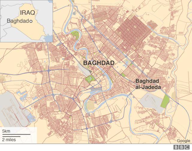 バグダッドのジャディダ地区の位置