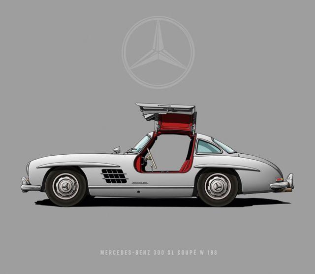 """Mercedes-Benz 300 SL W 198 - """"Alas de Gaviota"""""""