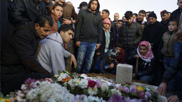 تشييع أحد ضحايا هجمات الكرك.