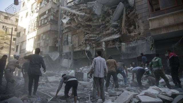 Eastern Aleppo has come under intense aerial bombardment for the past week