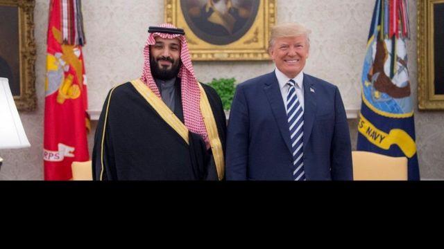 राष्ट्रपति ट्रम्प र मोहम्मद बिन सलमान