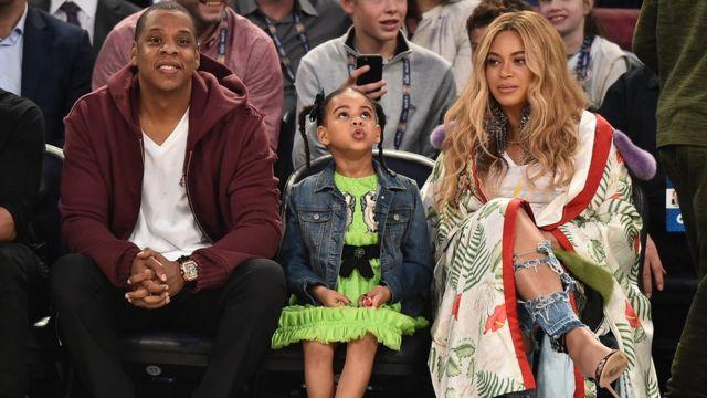 Jay-Z, Beyonce ve kızları Blue Ivy