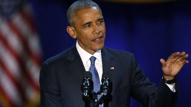 President Barack Obama speaks at McCormick Place in Chicago