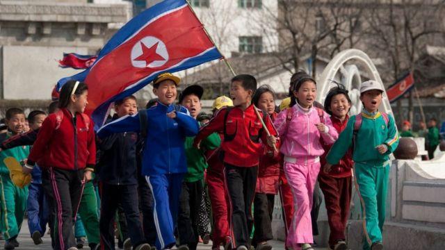 children in pyongyang