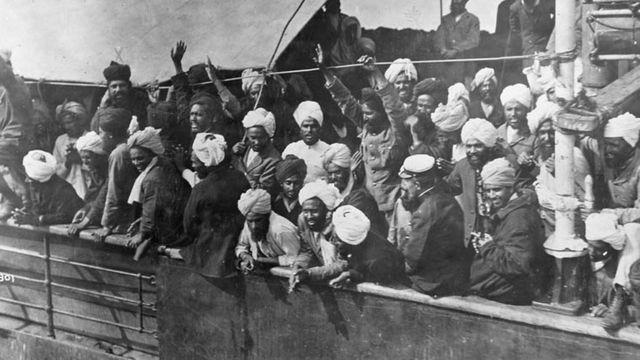 ผู้อพยพบนเรือโกมะกะตะ ในปี 1914