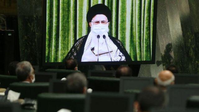 نمایندگان مجلس در دیدار تصویری با رهبر ایران