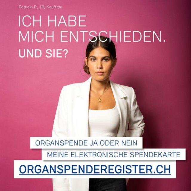 Muestra de la campaña publicitaria para incentivar la donación.