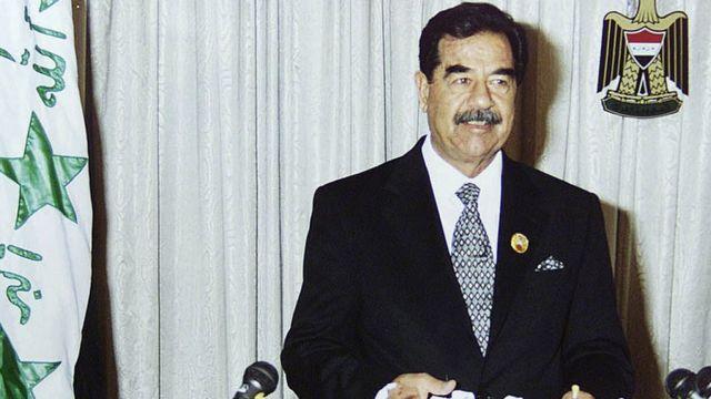 Saddam Hussein en 2002.