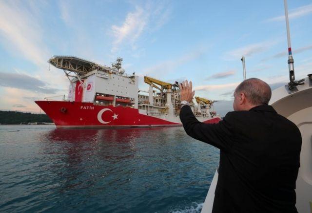 Cumhurbaşkanı Recep Tayyip Erdoğan, 29 Mayıs'ta Fatih sondaj gemisini İstanbul'dan uğurlamıştı