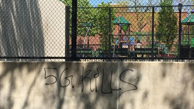 Grafite anti-5G em Nova York