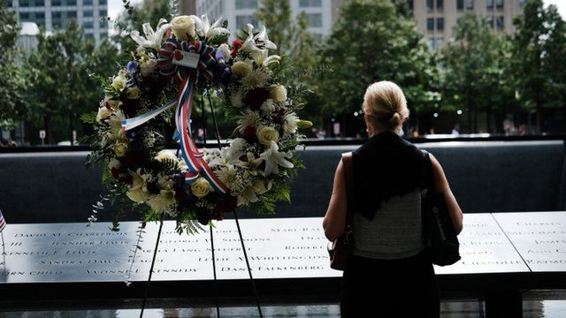 Site of 9/11 memorial in New York