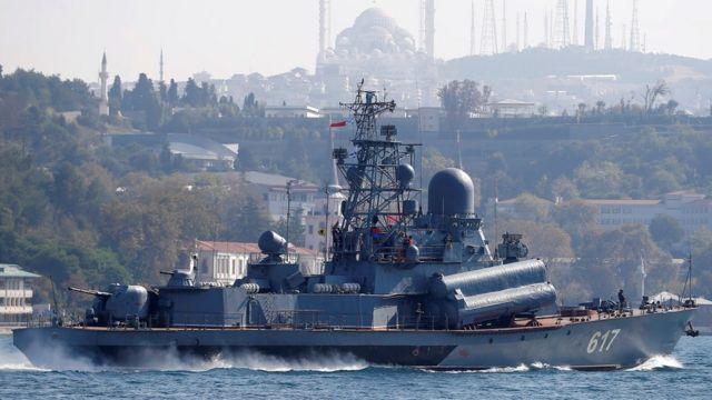 La corbeta rusa Mirazh.
