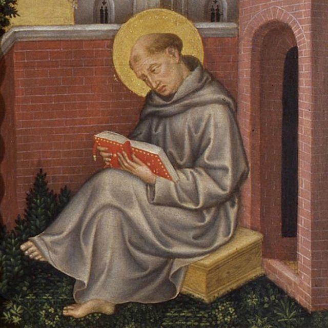 São Tomás de Aquino, em pintura de Gentile da Fabriano