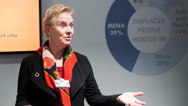 Ann Cairns, fotografada em 2017 em Davos