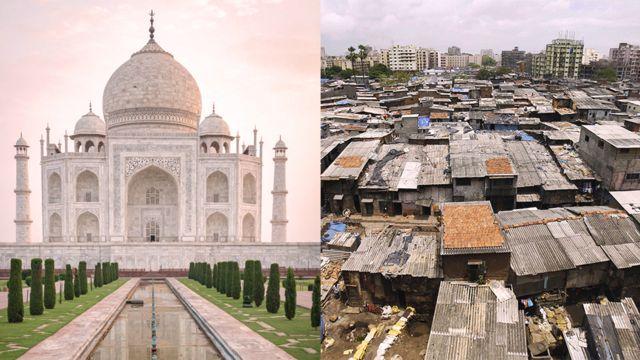 Тадж-Махал и трущобы