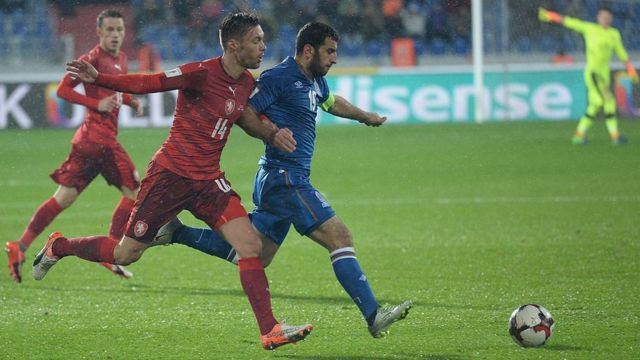 Azərbaycan-Çexiya oyunu 11 oktyabrda baş tutub