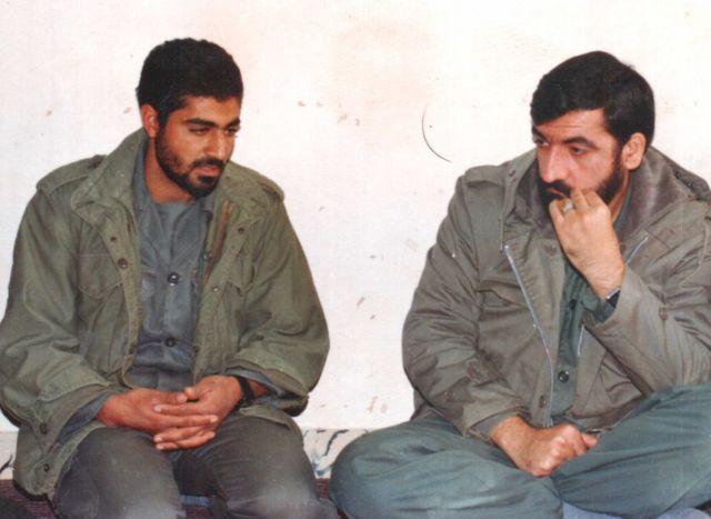 محسن رضایی و قاسم سلیمانی در جریان جنگ ایران و عراق