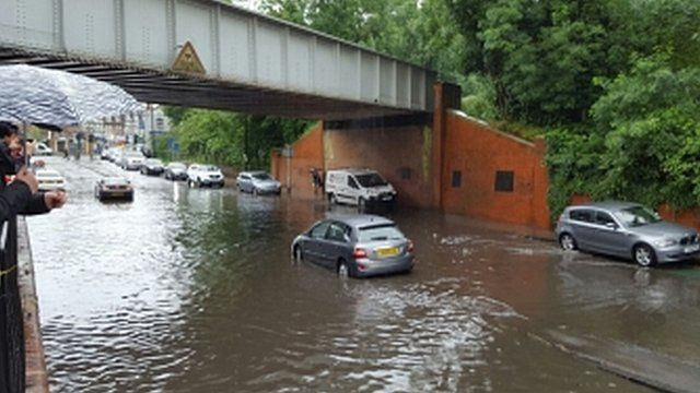 Flooding in South London