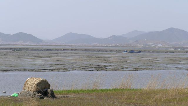 Marismas en el noroeste de Corea del Norte.