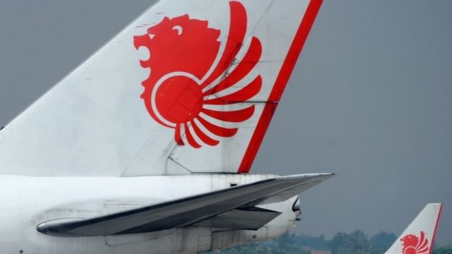 A Lion Air tail wing