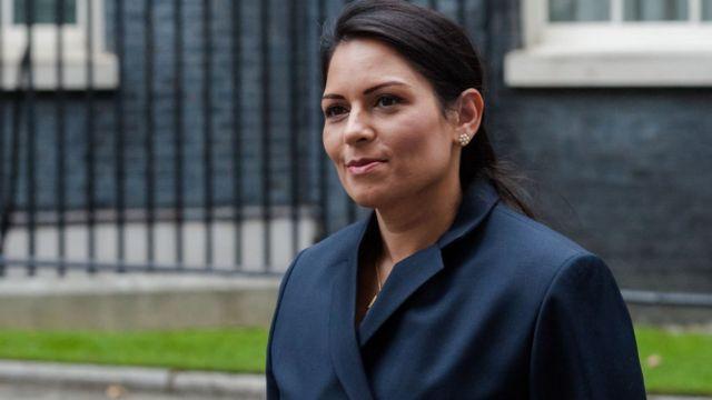 Priti Patel, ministra de Interior británica.