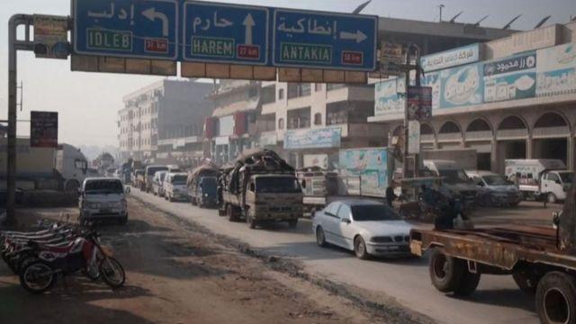 İdlib eyaletinden kaçış