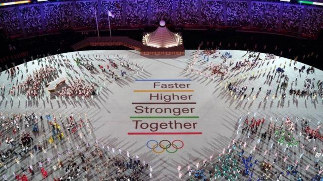 Lema olímpico não poderia faltar