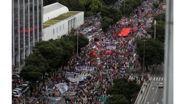 Protesto contra Bolsonaro no Rio de Janeiro
