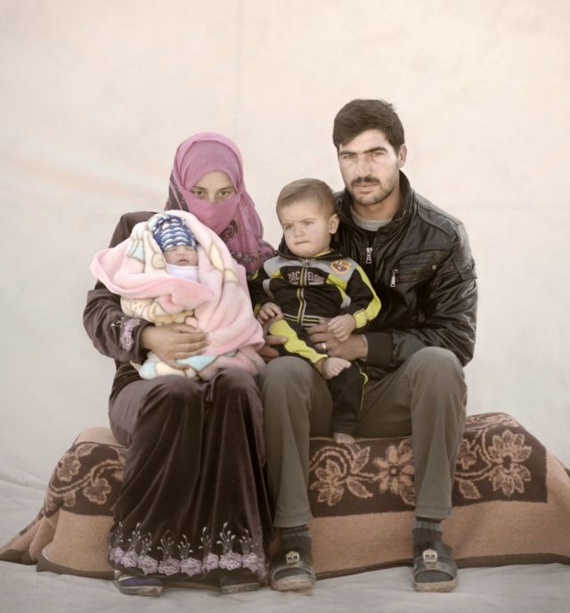 Amira with her husband and two children
