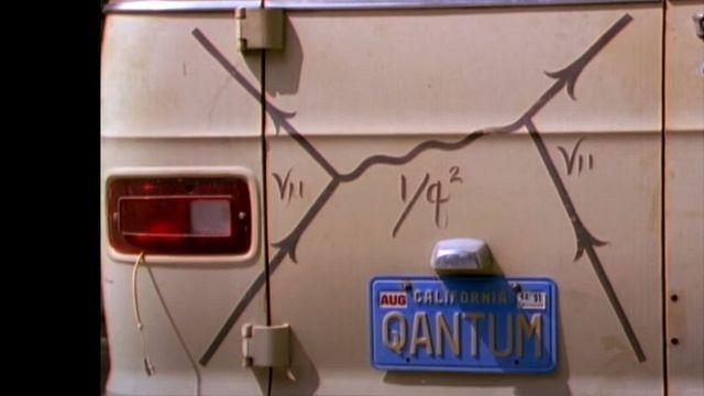 Uno de los diagramas de Feynman en la parte de atrás de la camioneta