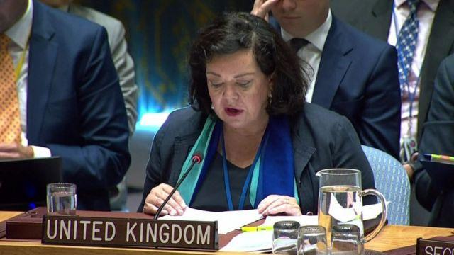 السفيرة البريطانية لدى الأمم المتحدة كارين بيرس