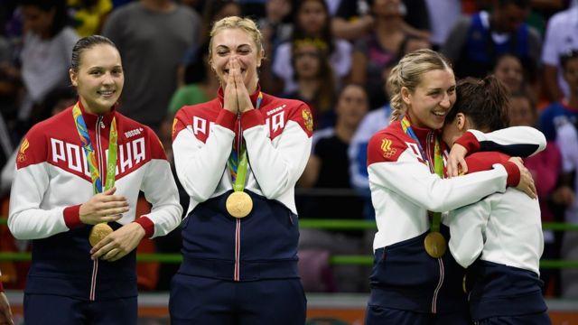 Российские гандболистки - чемпионки Рио
