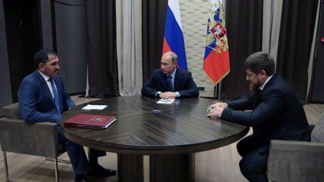 Vladimir Putin, Yunus-Bek Evkurov, Ramzan Kadyrov