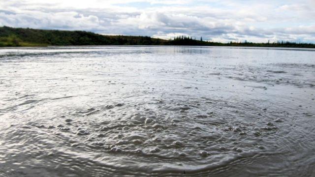 Un lago de Alaska
