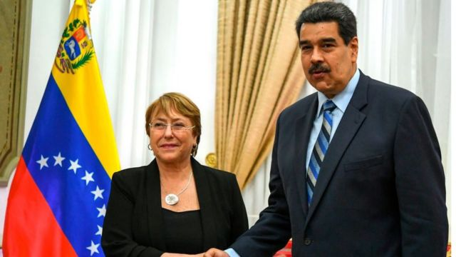 Bachelet y Maduro