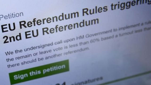 Petición para un segundo referendo