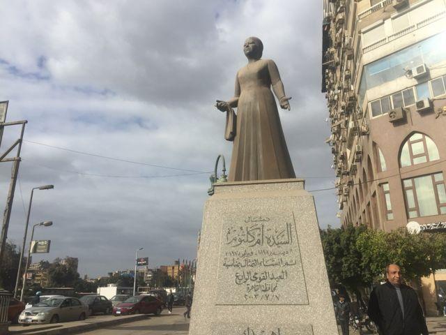 La statue d'Oum Kalthoum (Egypte)