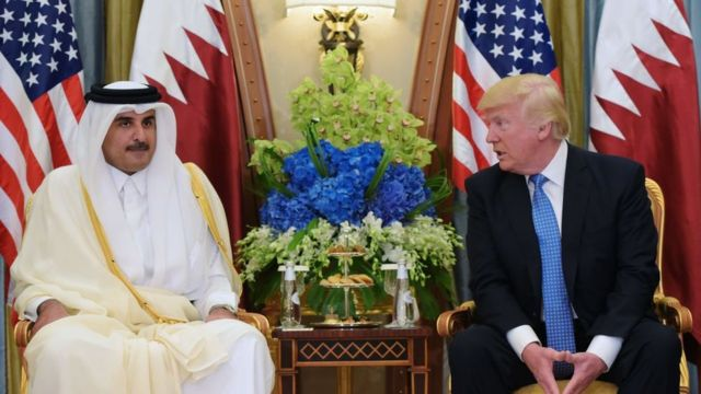 El jeque Tamim bin Hamad Al Thani, emir de Qatar.