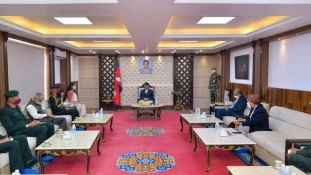 भारतीय सेनाध्यक्ष मनोज मुकुन्द नरवणेले प्रधानमन्त्रीसँग भेटेका थिए