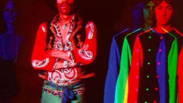 Jimi Hendrix experience psychedelic portrait