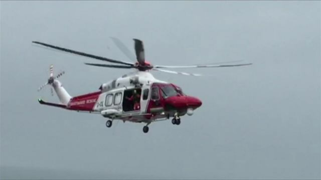Helicopter rescue at Combe Martin, courtesy of Andy Jenkins