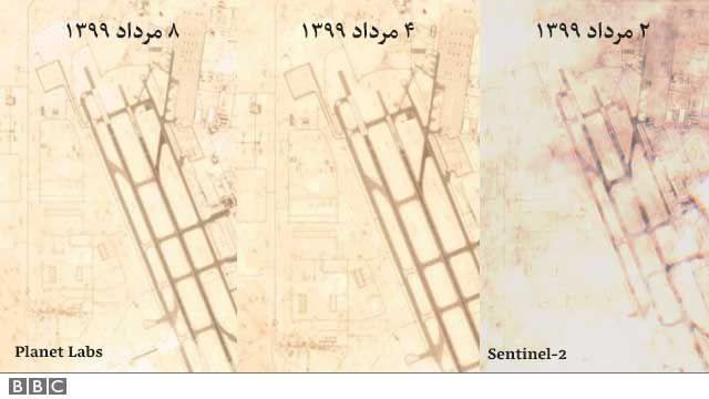 تصویرهای بالا تنها تصویرهایی هستند که در روزهای اخیر از پایگاه آمریکا در قطر رصد شدهاند