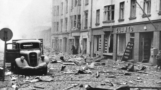 Последствия бомбардировки Хельсинки
