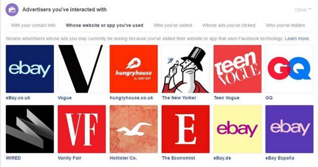 Рекламодатели, с которыми вы взаимодействовали