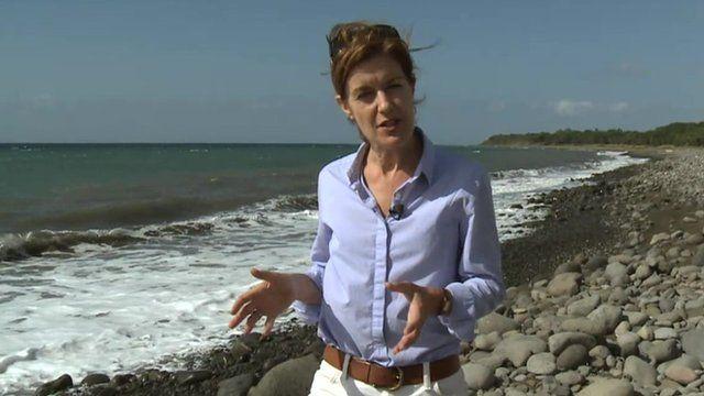 Karen Allen on beach