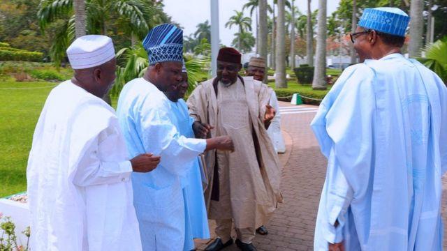 Aare Buhari ati awon Gomina kan