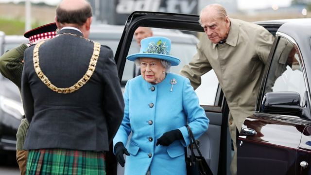 Queen and Prince Philip at opening ceremony of the Queensferry Crossing, on 4 September 2017