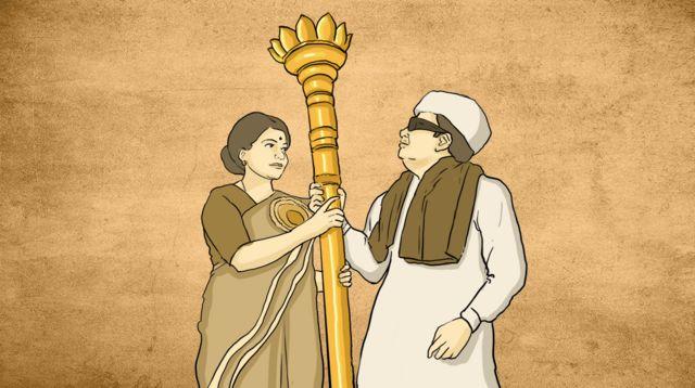 જયલલિતા અને એમ.જી. રામચંદ્રનનું રેખાંકન