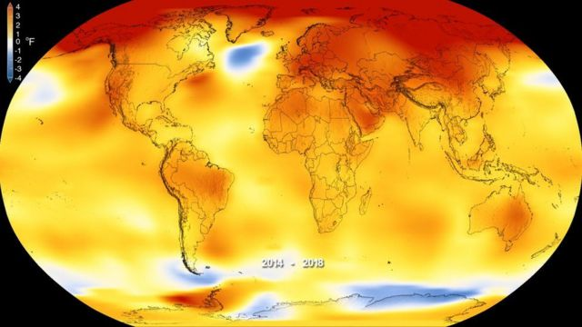 ဆယ်စုနှစ်အတွင်း ကမ္ဘာ့အပူချိန်စံချိန်တင် မြင့်တက်ခဲ့